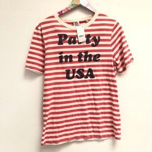 NWT Men's Small Party In The USA T-Shirt I14